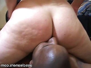 Ebony domina likes the way the man licks her ass hole