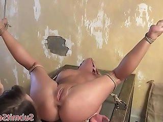 Spread bdsm sub sucks cock anal fucking