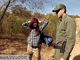 Black ebony fake cop Redhaired peacherino can do everything to