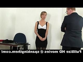 Punished young secretary