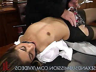Submissive girl fucked on couch