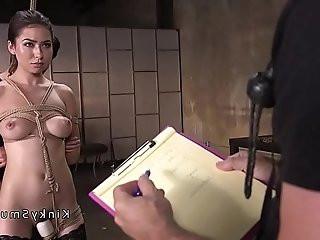 Beautiful babe got fuck bondage training