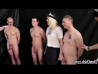 Cfnm lady cops tug cock