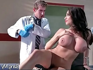 Hardcore sex between doctor and slut horny patient ariella ferrera video