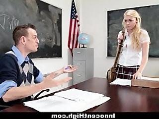 InnocentHigh Blonde Schoolgirl gets Fucked really Hard By Her Prof