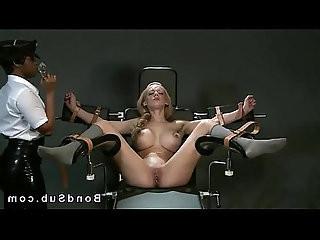 Sluty blonde slave dominated by mistress