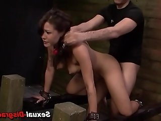 Asian slave rough fucked