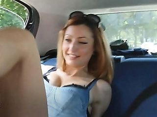 Brat Car Italian Girl Foot Smothering Man