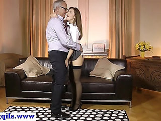 Russian euro cumswallows while in uniform