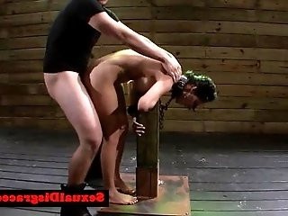 BDSM babe facialized by dominator after hardcore bang