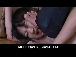Japanese teen Aoba Itou caught with bottle in her pussy