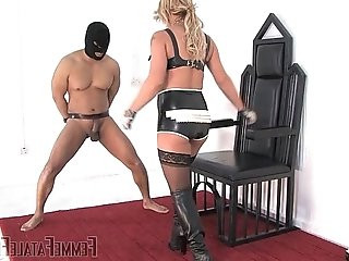 Busted Burglar Mistress Athena FemmeFataleFilms Ball Busting