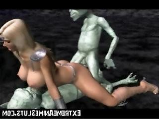 Aliens Bang a 3D Princess!