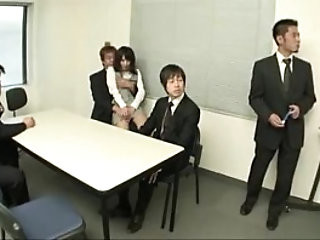 Japanese school girl oral sex at the office