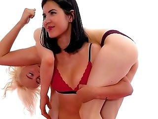 Female Wrestling Humiliation Headscissor Foot Domination