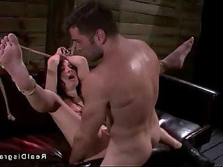 Small tits Marley Blaze in bdsm deep throat fucked