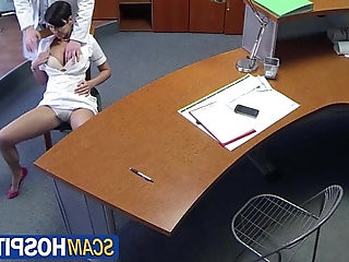 Gabrielle goes for a job interview with doctor turns into wild sex