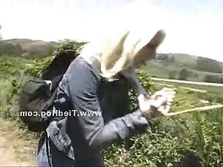 Small tits babe caught by nasty cop