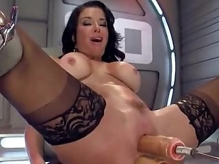 Double Fuck Machine For Perfect Brunette from