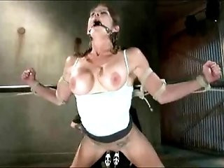 Tied up and teased till massive squirting orgasms