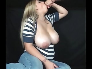 big natural tits gloryhole blowjob and handjob