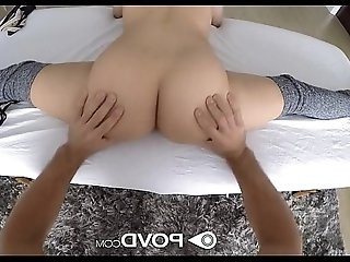 POVD Flexible petite Lucy Doll is oiled up and fucked in pov
