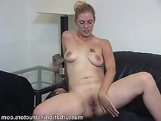 Naked jerk off teacher wants cum in her pussy