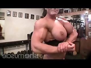 Female Bodybuilder Big Tits in the Gym